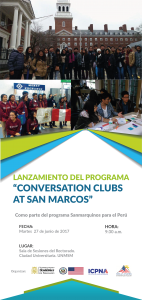 okokoko Afiche programa sanmarquinos
